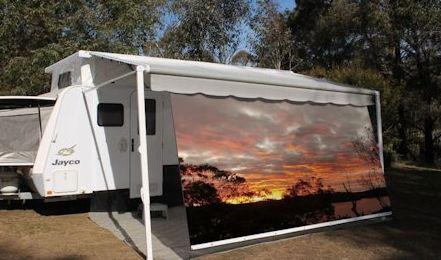 Caravan Privacy Screens & Printed Shade Walls