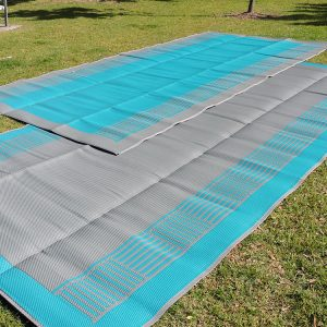 Teal Green Awning Mat - Teal Green/Grey